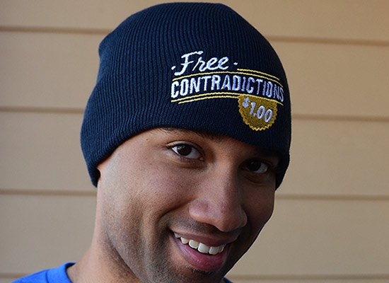 Free Contradictions Beanie on Mens Hats