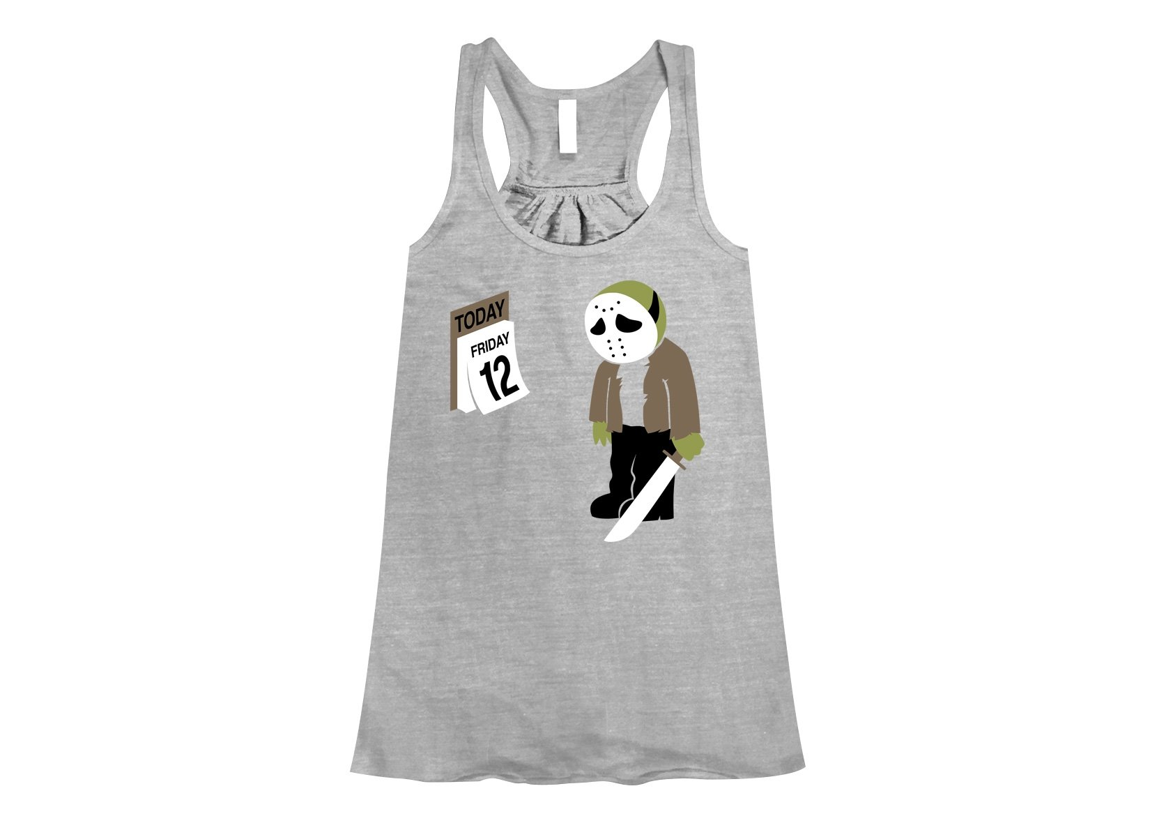Friday the 12th on Womens Tanks T-Shirt