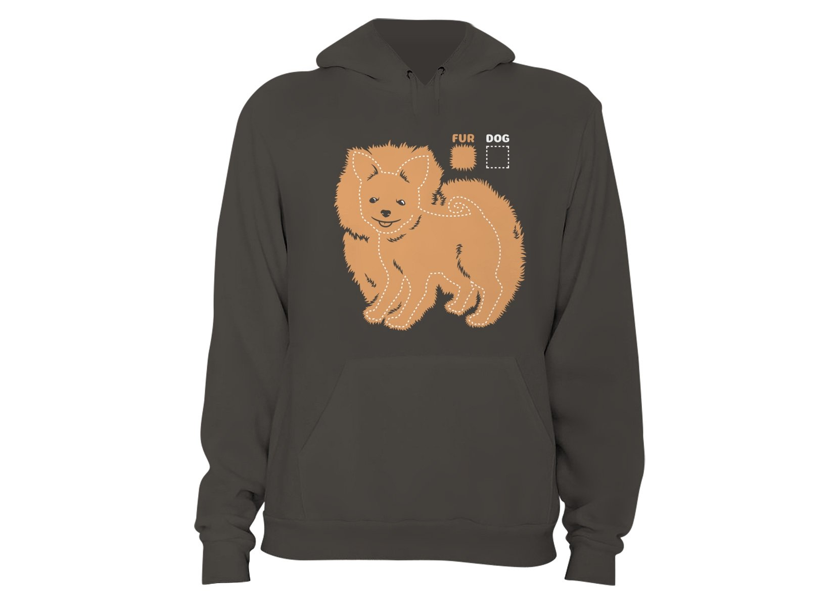 Dog vs Fur Pomeranian on Hoodie