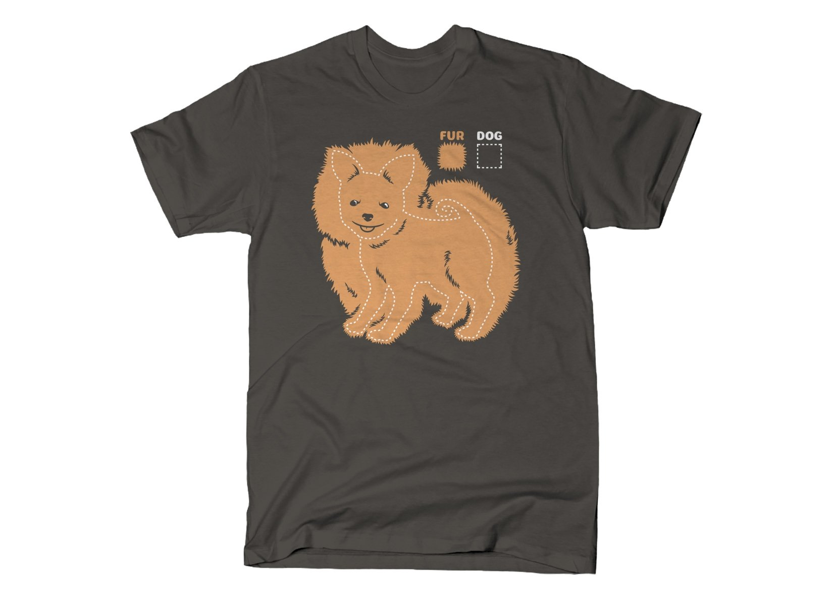 Dog vs Fur Pomeranian on Mens T-Shirt