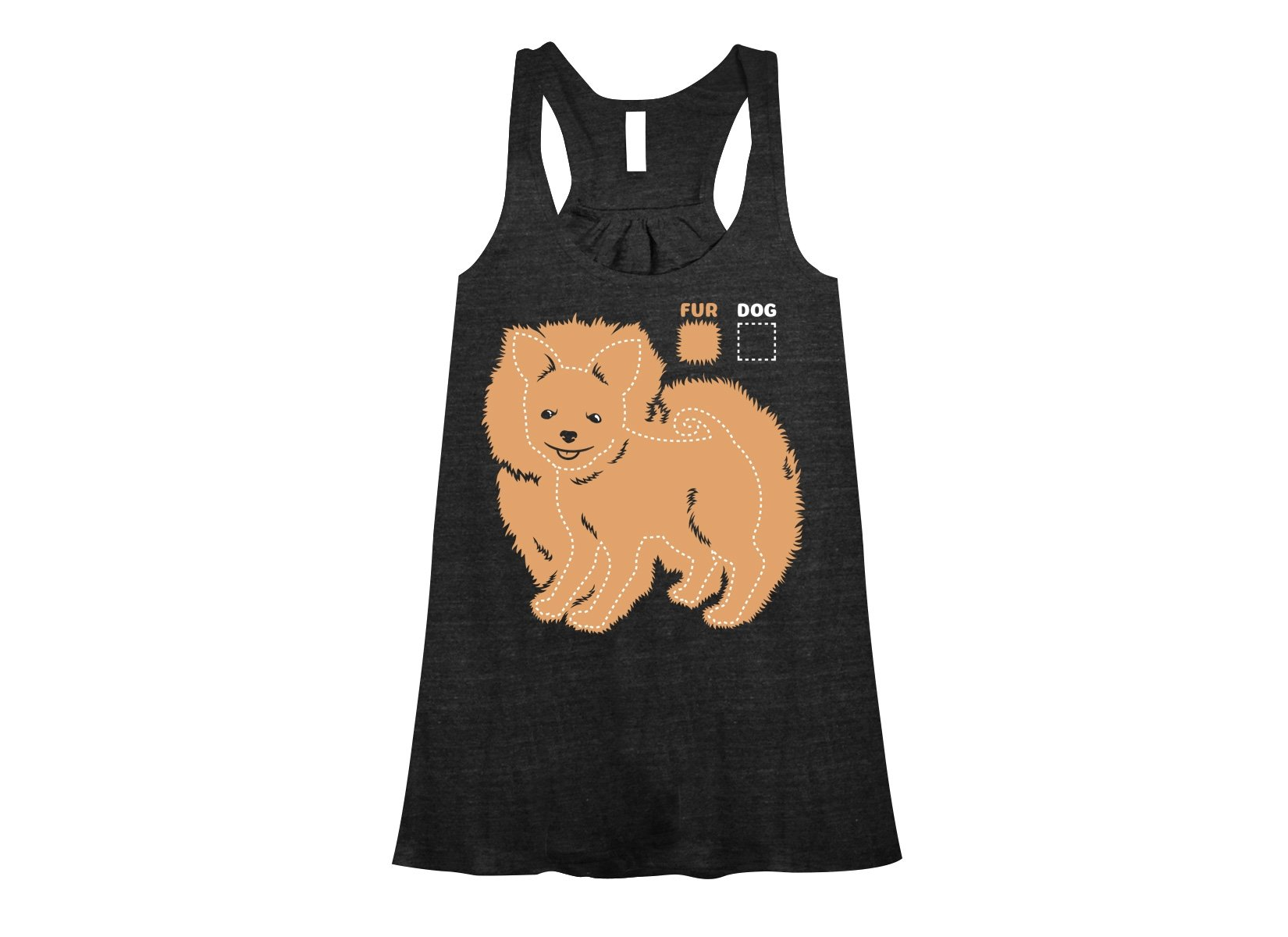 Dog vs Fur Pomeranian on Womens Tanks T-Shirt