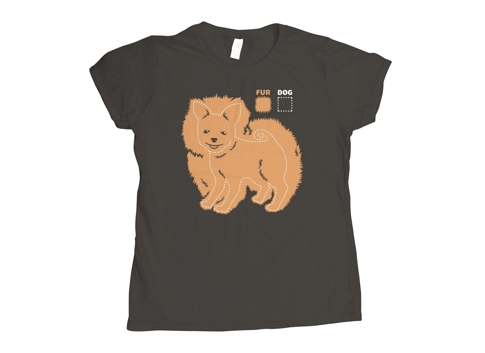 Dog vs Fur Pomeranian on Womens T-Shirt