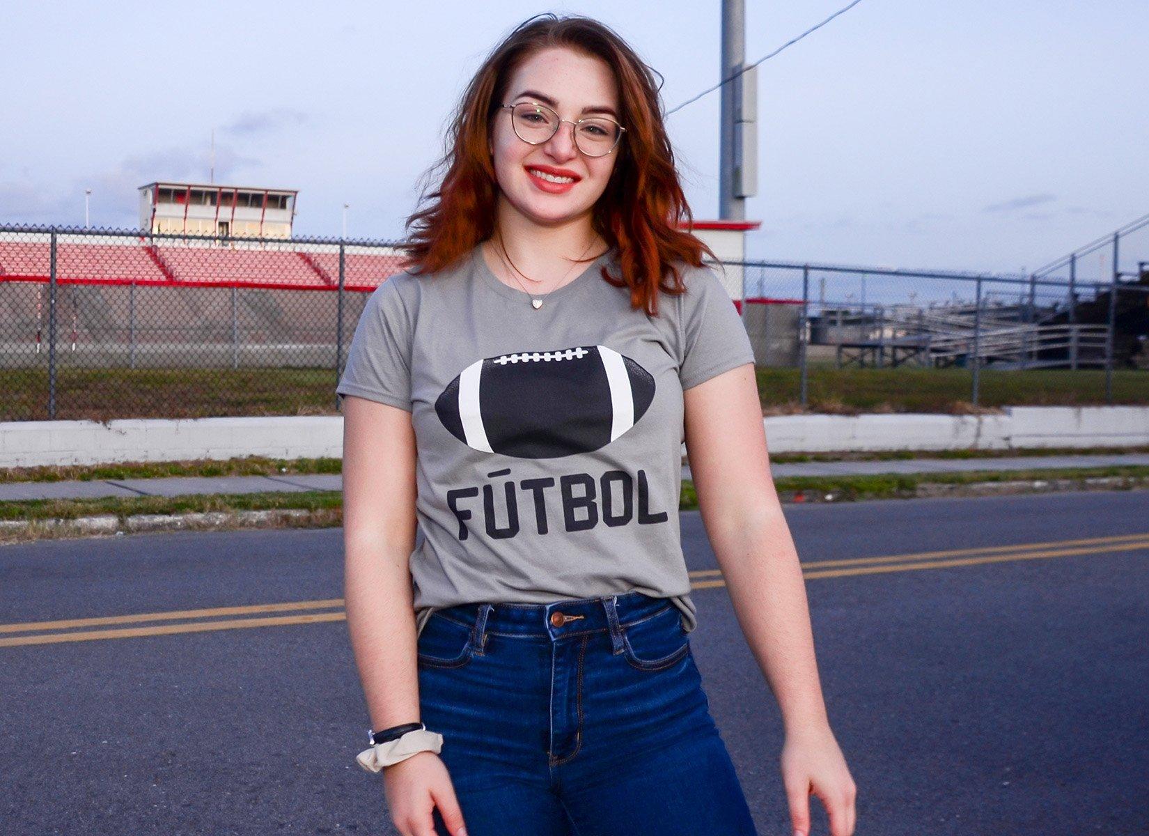 Futbol on Womens T-Shirt