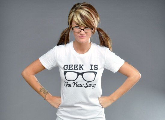 Geek Is The New Sexy on Juniors T-Shirt