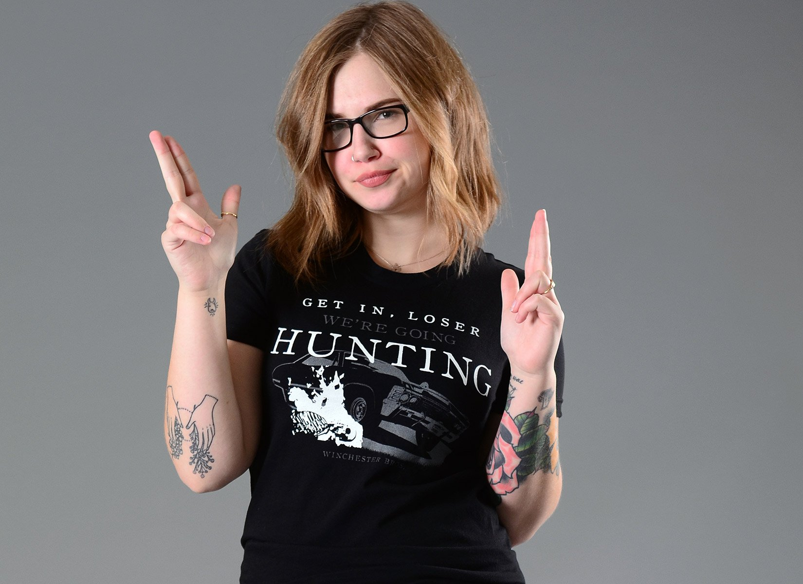 We're Going Hunting on Juniors T-Shirt