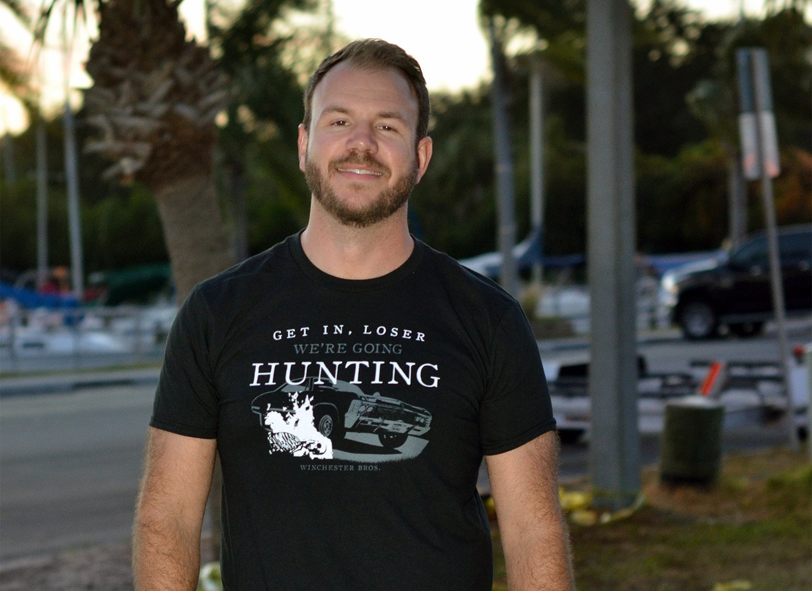 We're Going Hunting on Mens T-Shirt