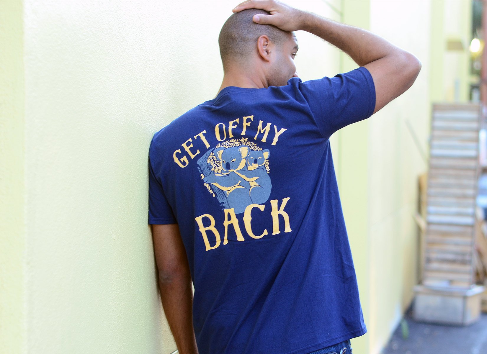 Get Off My Back on Mens T-Shirt