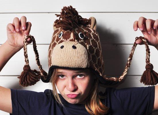 Geoff The Giraffe Hat on Mens Hats
