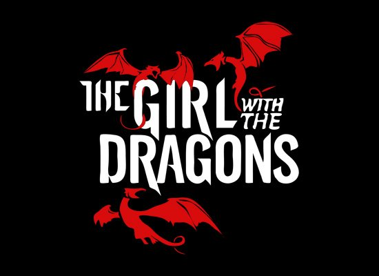 The Girl With The Dragons on Mens T-Shirt