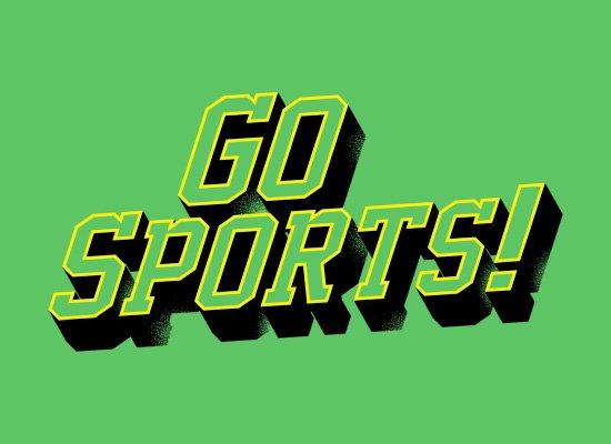 Go Sports! on Mens T-Shirt