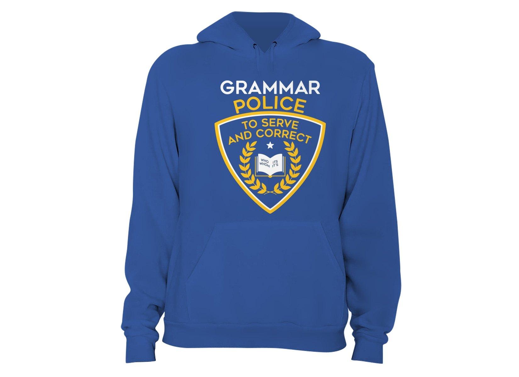 Grammar Police on Hoodie