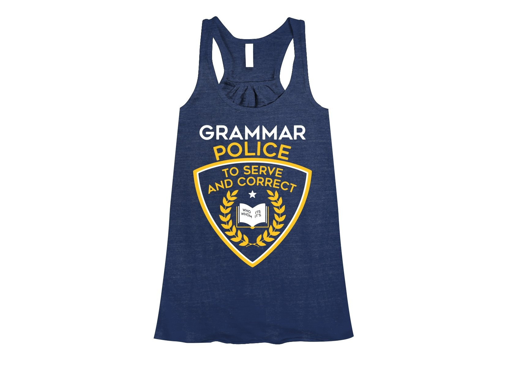 Grammar Police on Womens Tanks T-Shirt