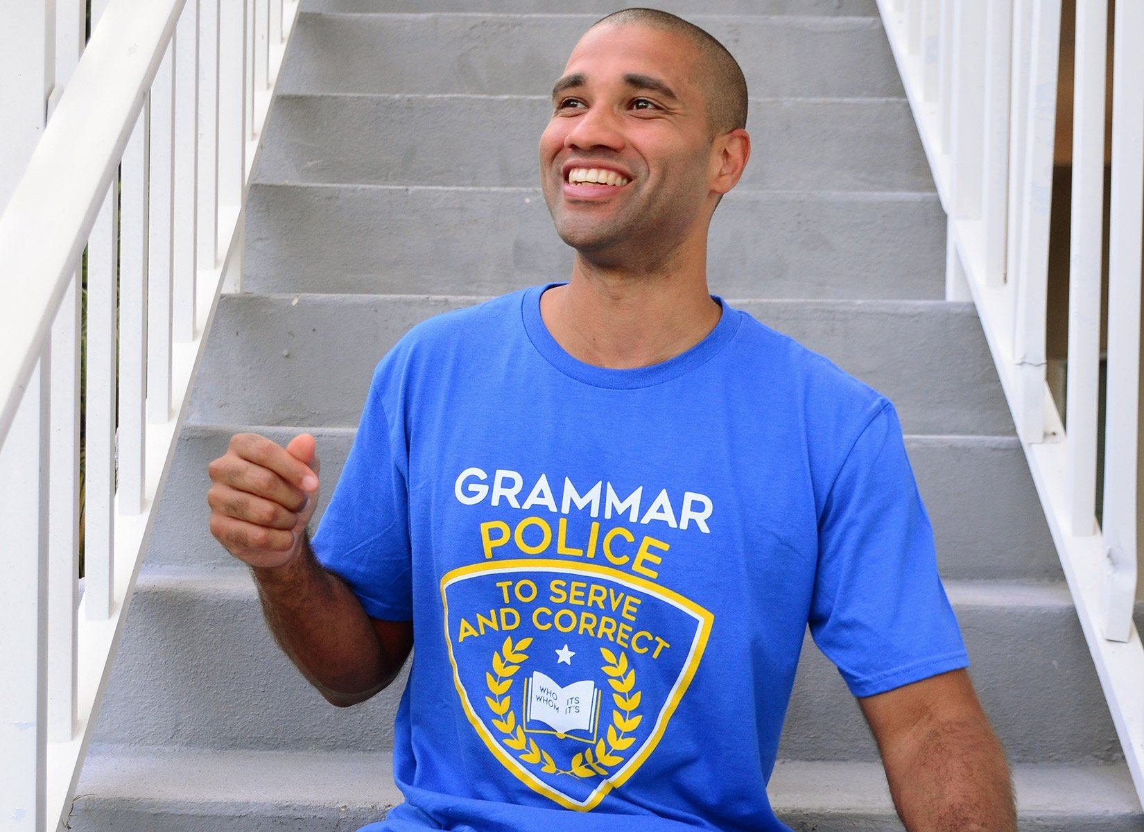 Grammar Police on Mens T-Shirt
