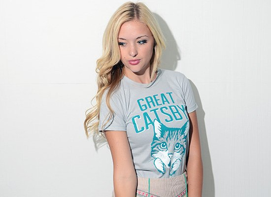 Great Catsby! on Juniors T-Shirt