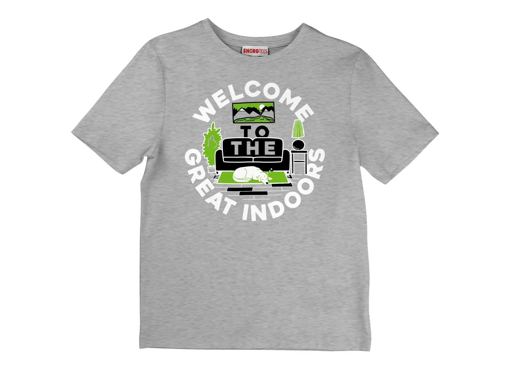 Welcome To The Great Indoors on Kids T-Shirt
