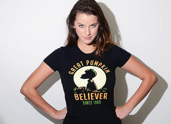 Great Pumpkin Believer on Juniors T-Shirt