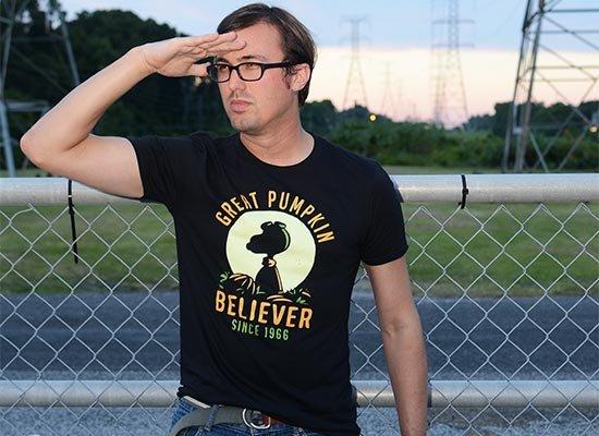 Great Pumpkin Believer on Mens T-Shirt