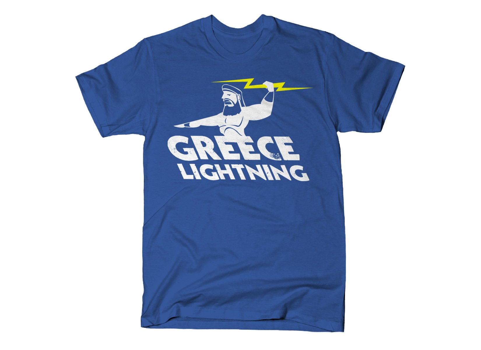 Greece Lightning on Mens T-Shirt
