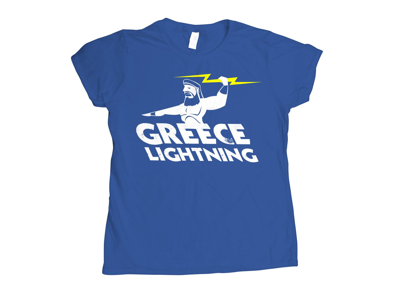 Greece Lightning on Womens T-Shirt