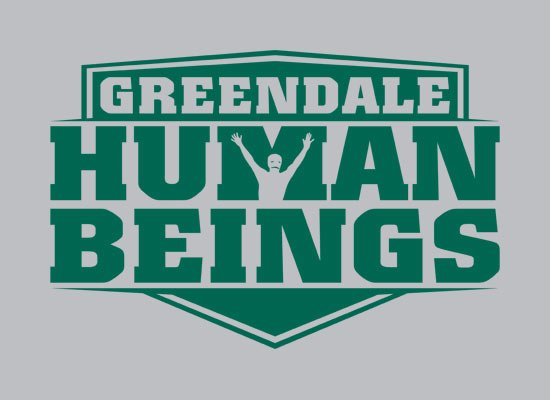 Greendale Human Beings on Mens T-Shirt