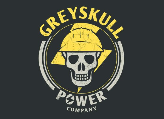 Greyskull Power Company on Mens T-Shirt