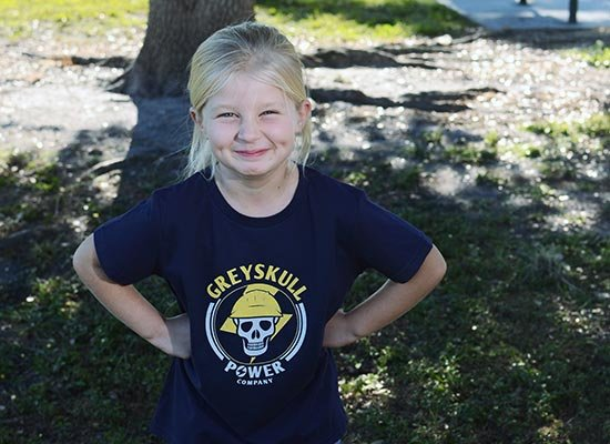 Greyskull Power Company on Kids T-Shirt