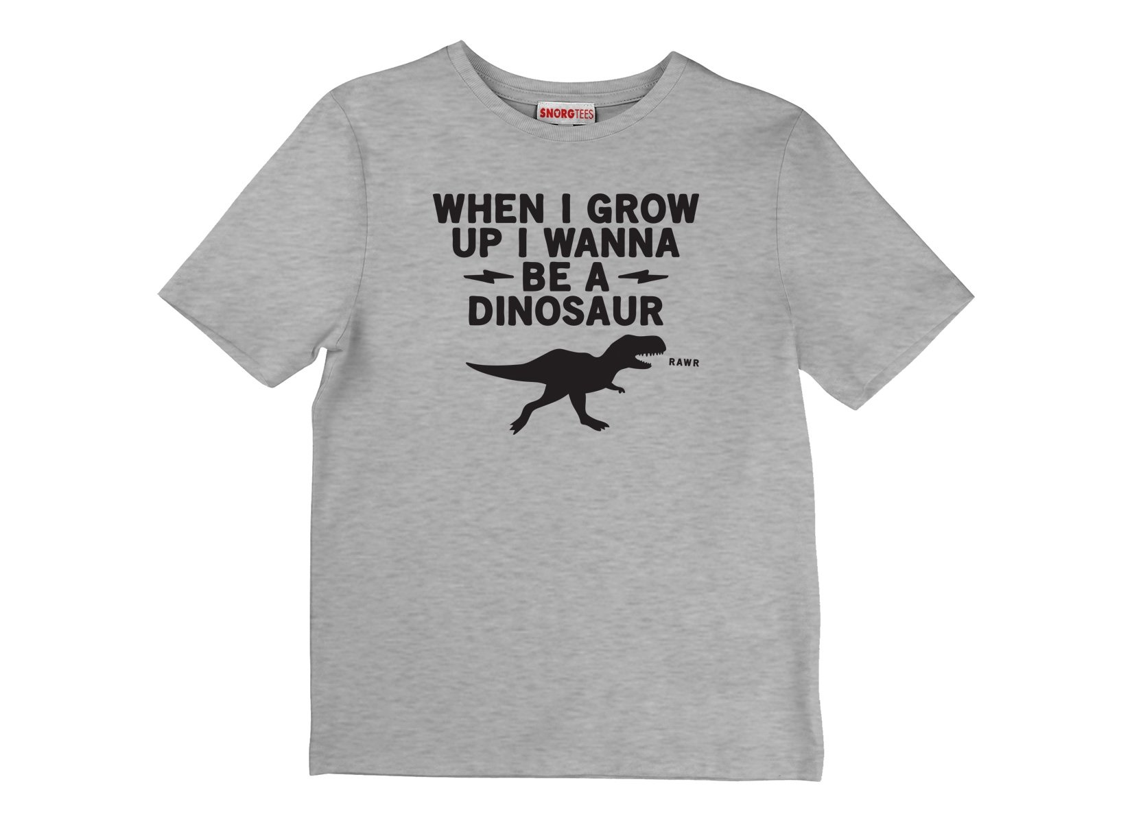 When I Grow Up I Wanna Be A Dinosaur on Kids T-Shirt