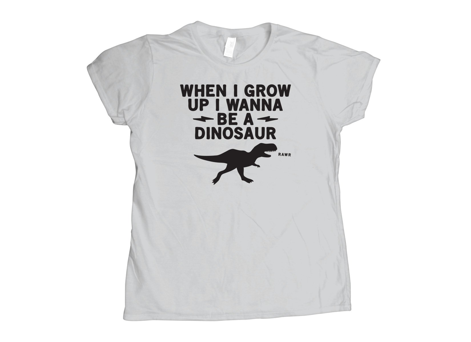 When I Grow Up I Wanna Be A Dinosaur on Womens T-Shirt