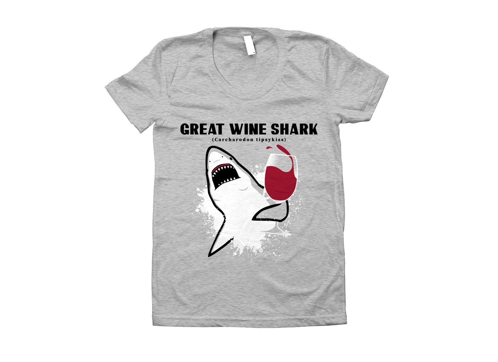 Great Wine Shark on Juniors T-Shirt