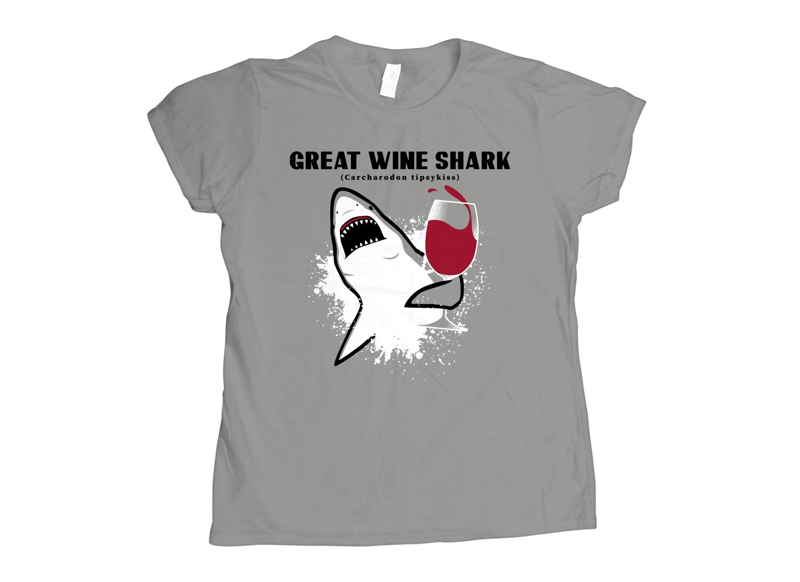 Great Wine Shark on Womens T-Shirt