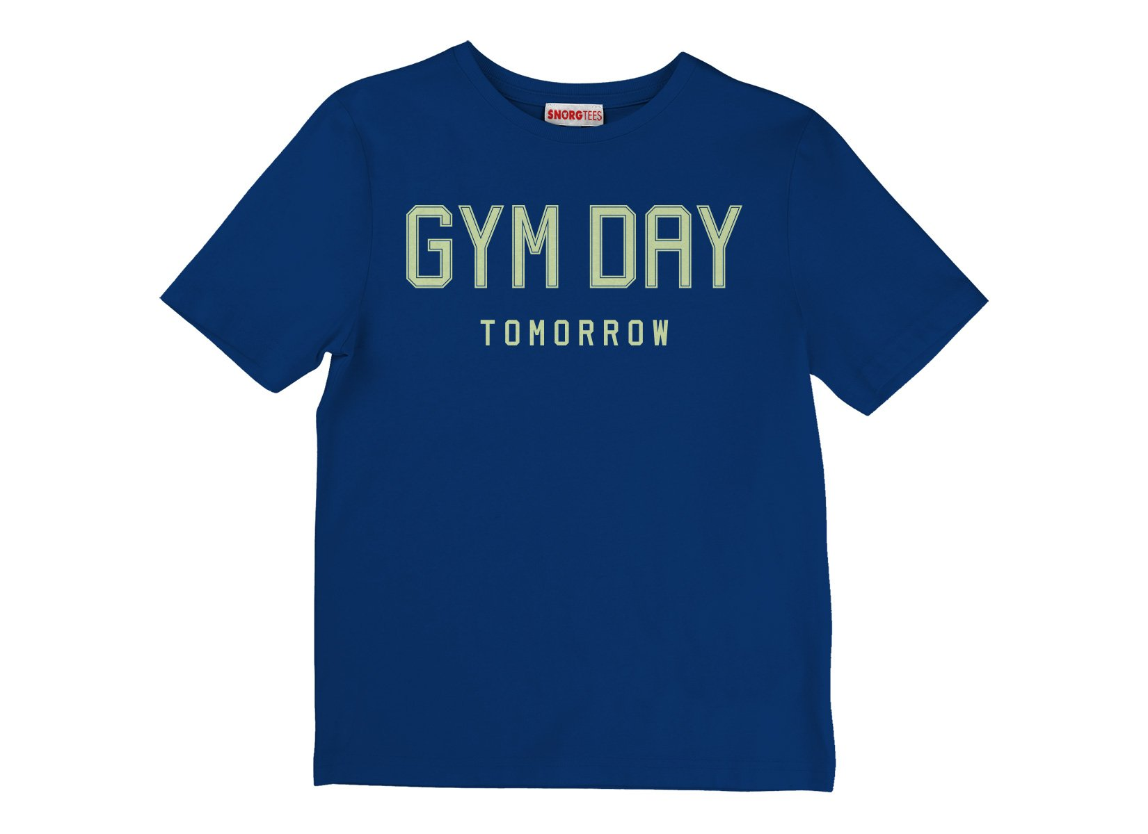 Gym Day Tomorrow on Kids T-Shirt
