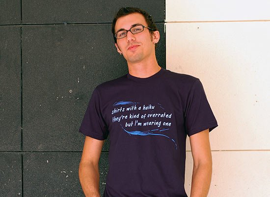 Haiku T-Shirt on Mens T-Shirt