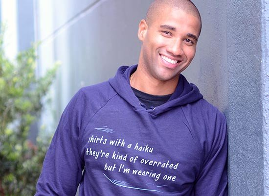 Haiku T-Shirt on Hoodie