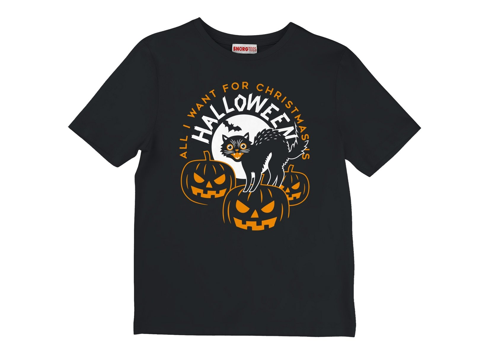 All I Want For Christmas Is Halloween on Kids T-Shirt