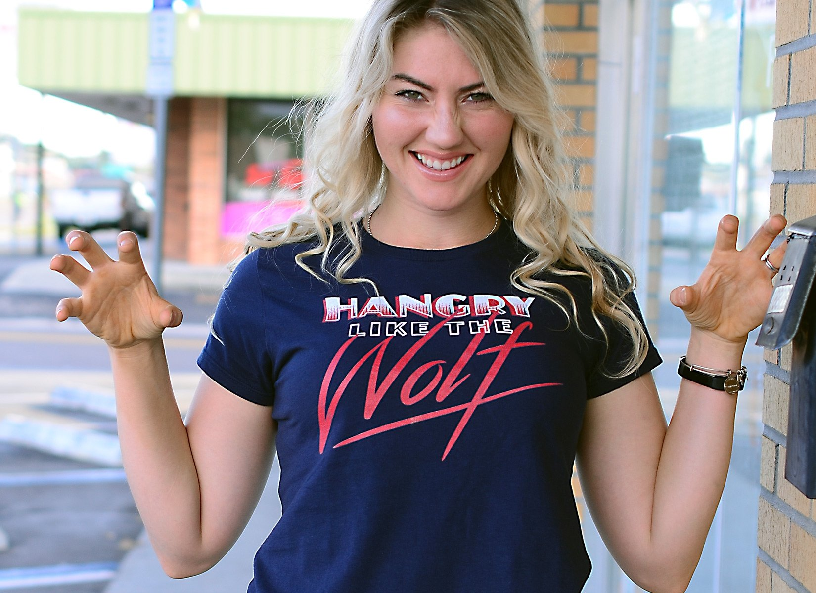 Hangry Like The Wolf on Womens T-Shirt