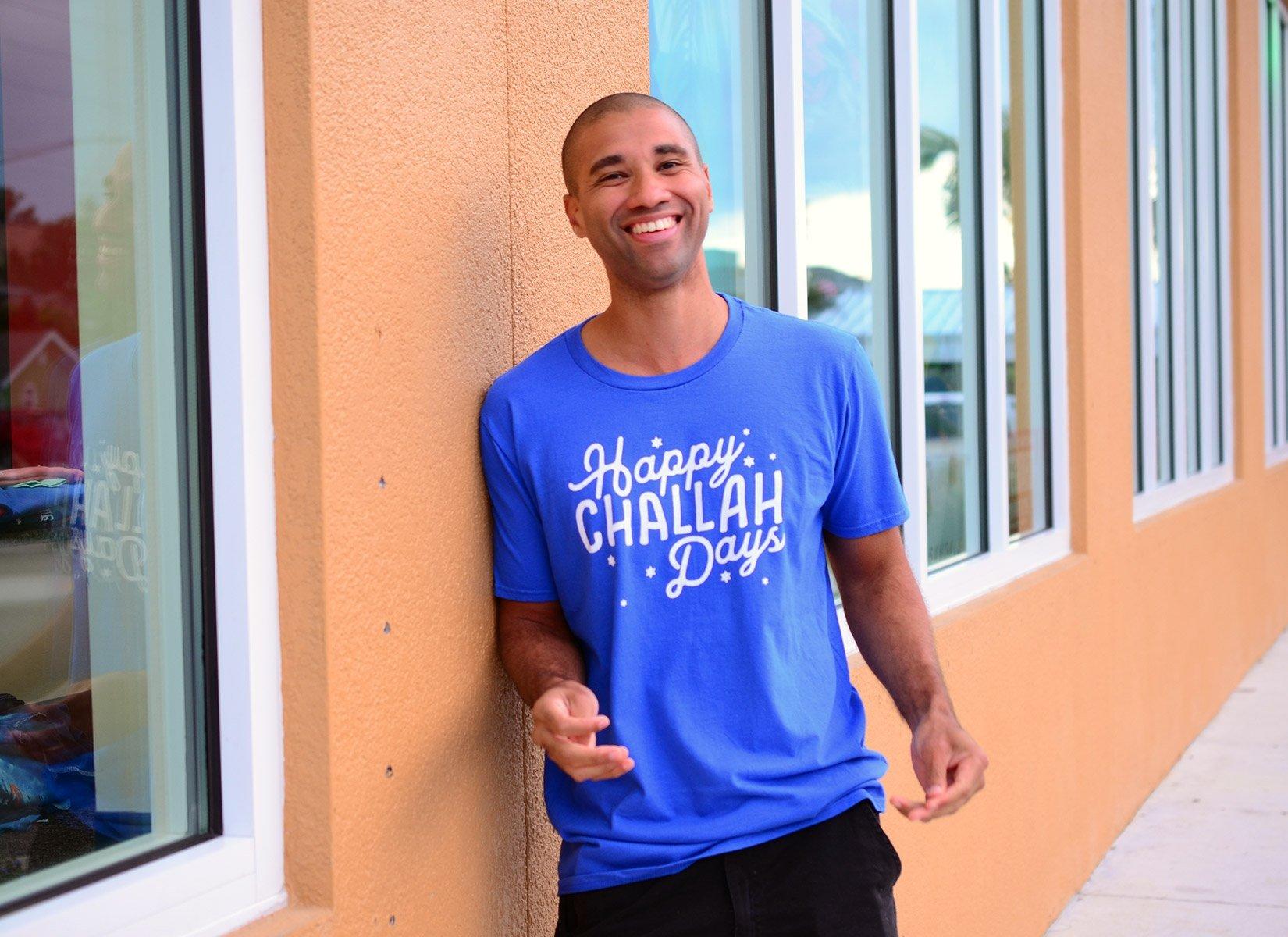 Happy Challah Days on Mens T-Shirt