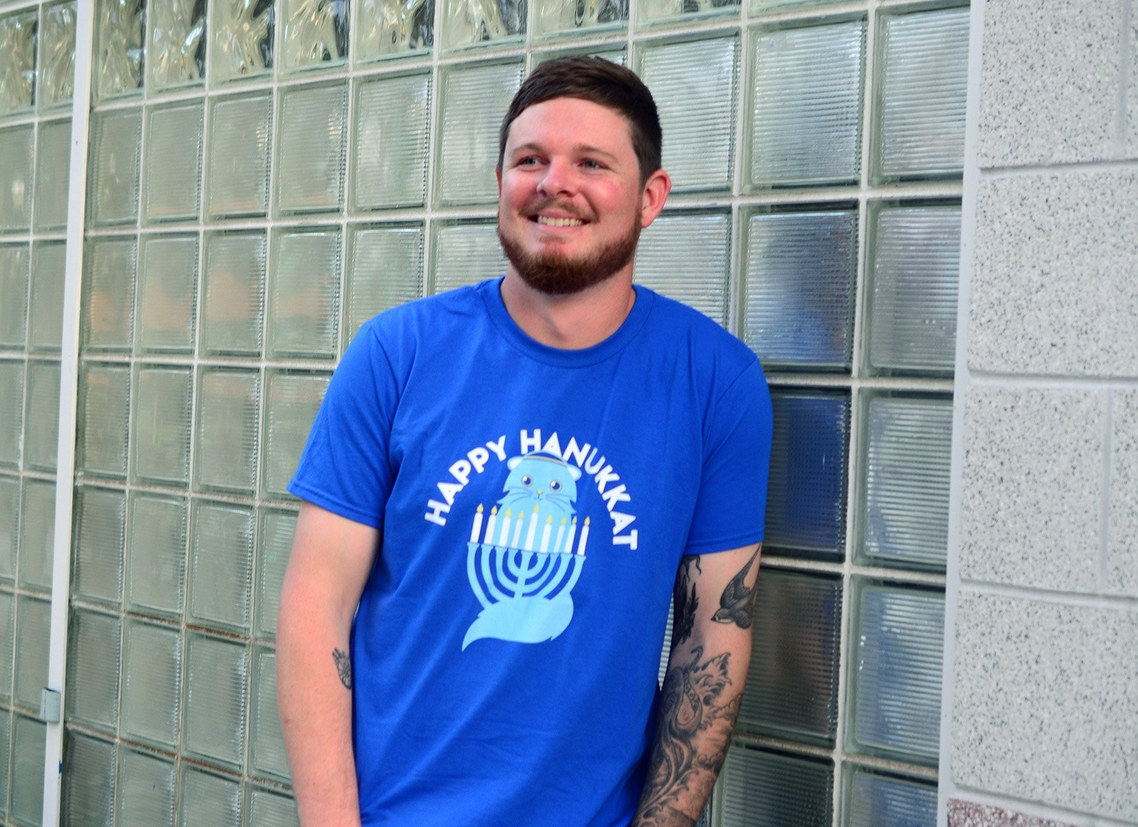 Happy Hanukkat on Mens T-Shirt