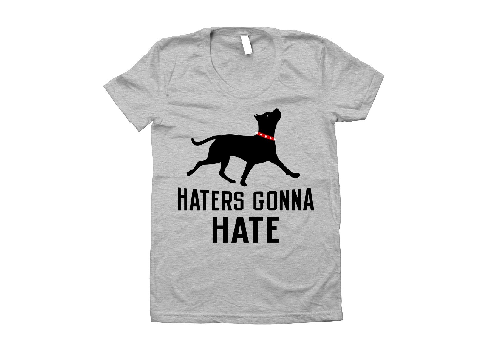Haters Gonna Hate Pit on Juniors T-Shirt