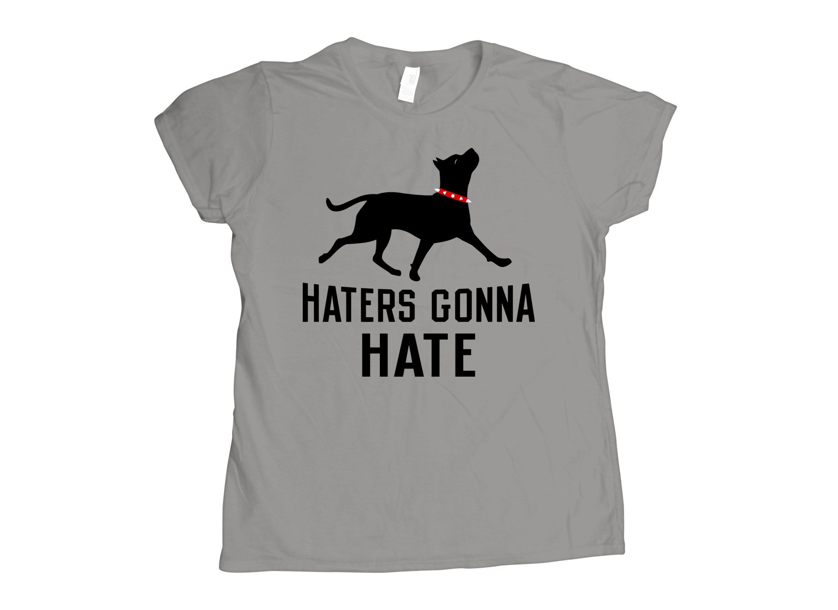 Haters Gonna Hate Pit on Womens T-Shirt