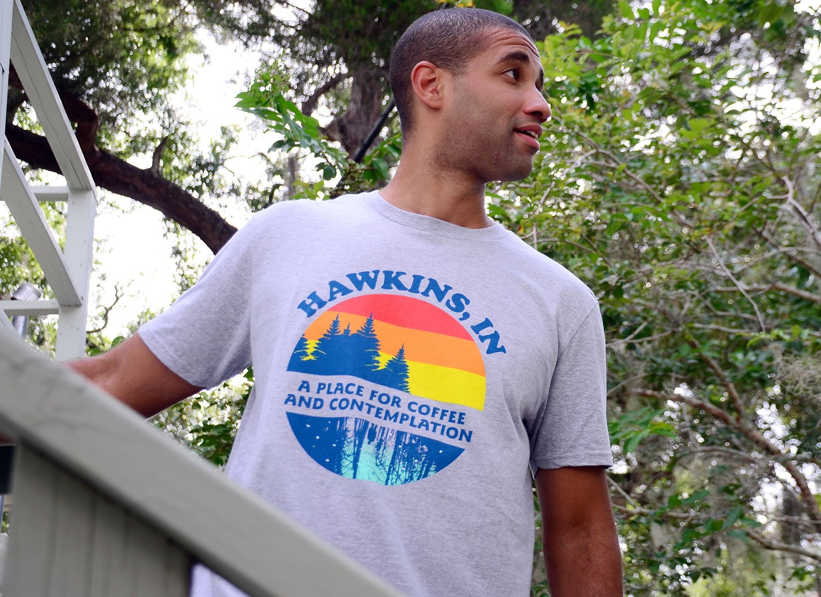 Hawkins Retro on Mens T-Shirt