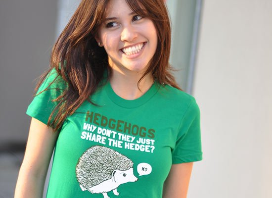 Hedgehogs Can't Share on Juniors T-Shirt