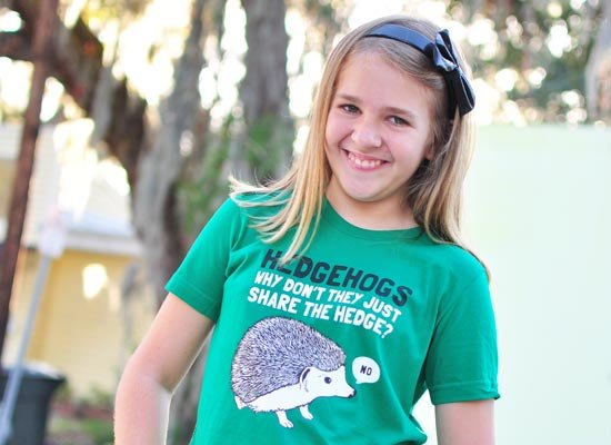 Hedgehogs Can't Share on Kids T-Shirt