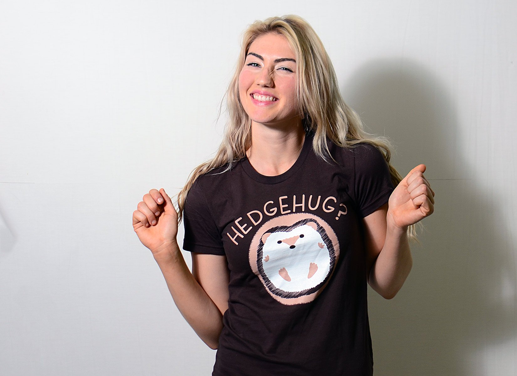 Hedgehug on Juniors T-Shirt