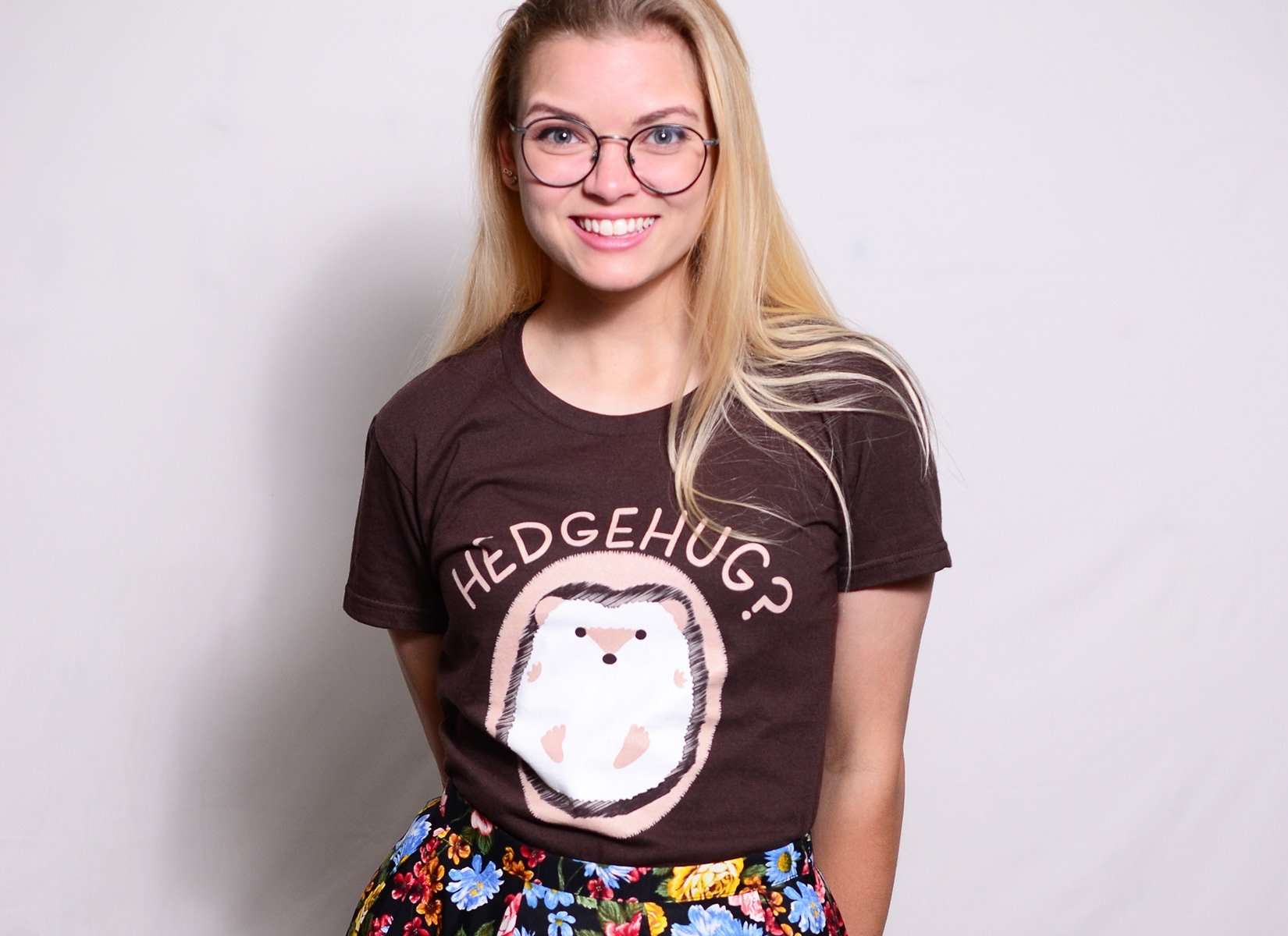 Hedgehug on Womens T-Shirt
