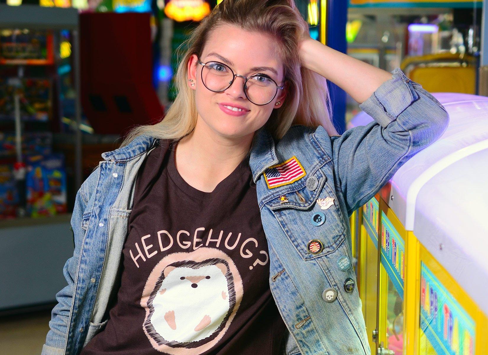 Hedgehug on Womens T-Shirt