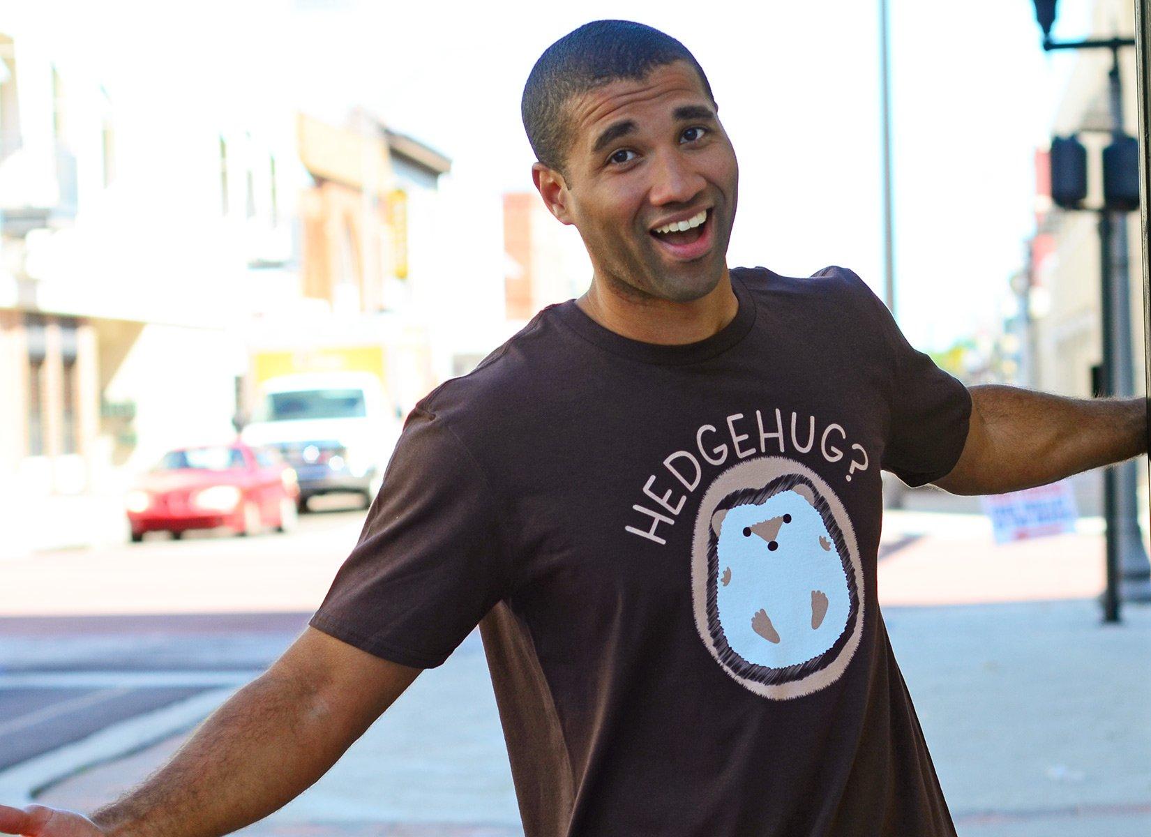 Hedgehug on Mens T-Shirt