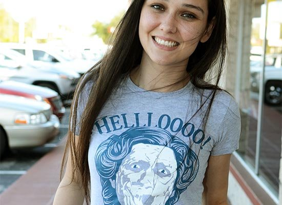 Hellloooo! on Juniors T-Shirt