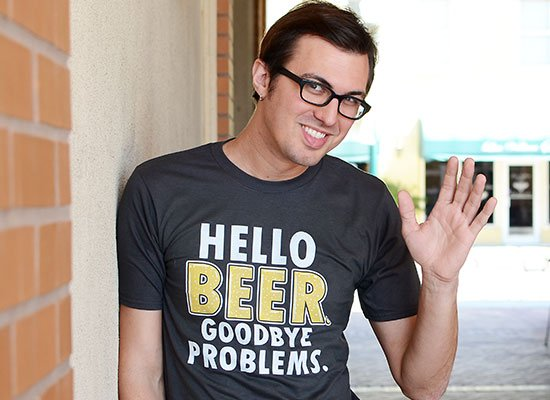 Hello Beer. Goodbye Problems. on Mens T-Shirt