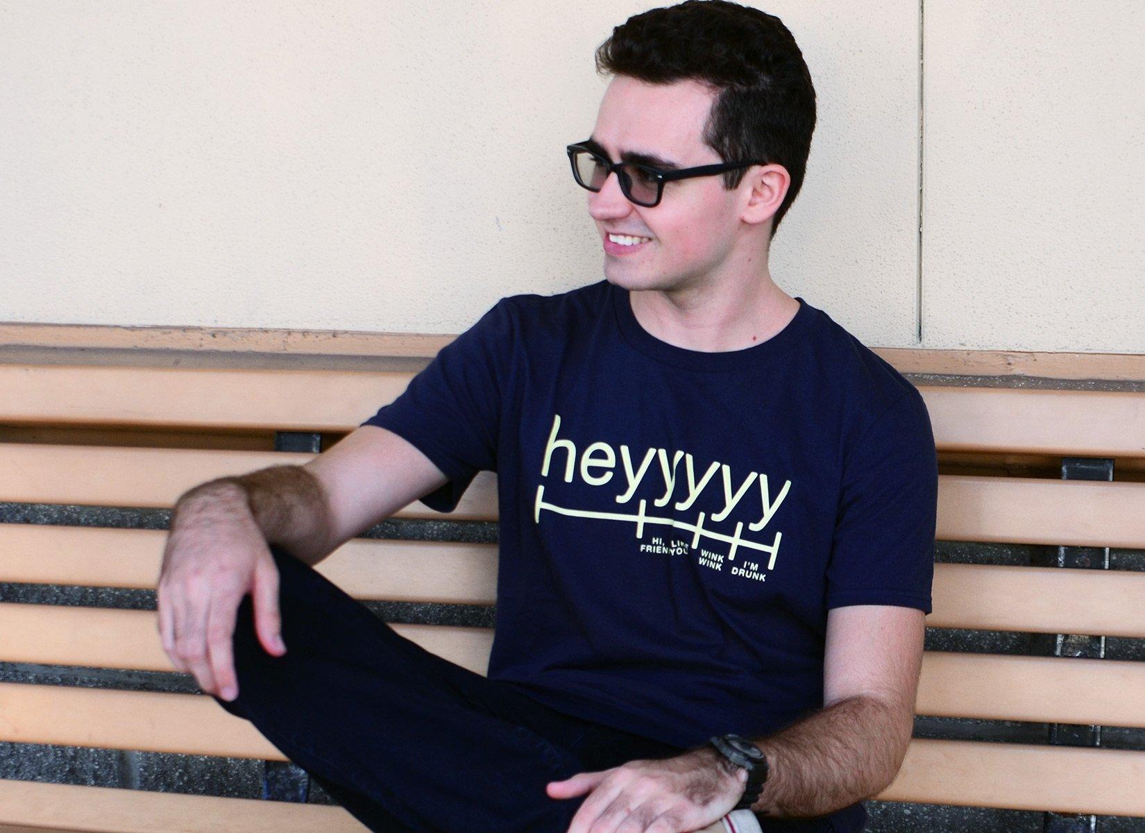 Heyyyyy on Mens T-Shirt