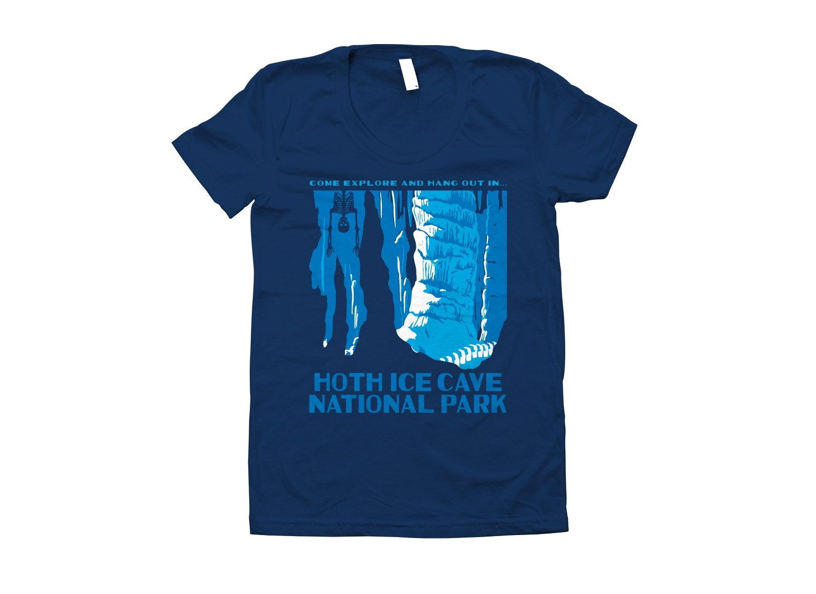Hoth Ice Cave National Park on Juniors T-Shirt